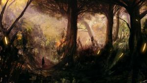 firefly forest speed paint by Effett