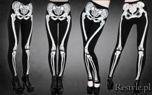 Skeleton leggins by Euflonica