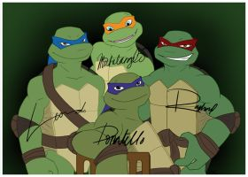 TMNT Autograph pic by prefight-DONUT