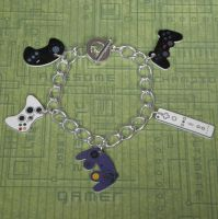 Video Game Controller Charm Bracelet by PlayBox-Designs