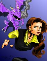 Kitty Pryde coloring by Merides