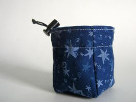Blue Starry Tiny Dice Bag by mousch