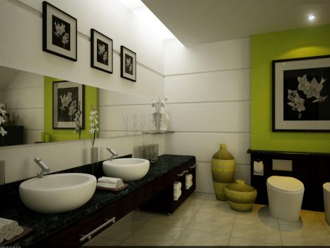 Master's Private Bathroom 01 by arkiden124