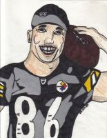 Hines Ward holding football by Buhla