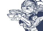Grunt sketch by ErasedCitizen2