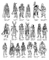 Elven Armors by Shabazik