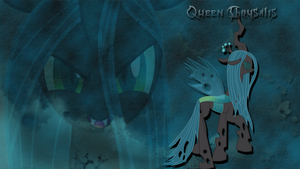 Queen Chrysalis wallpaper by LeonBrony