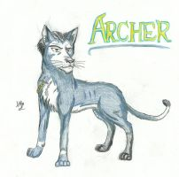 Archer the Russian Blue Tabby by ExplodingBlossom