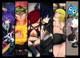 Fairy Tail collab by CursedIceDragon