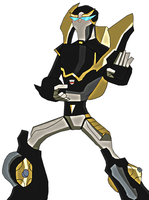 Transformers Animated Prowl by lady-warrior