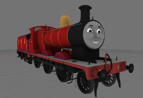 James the red engine by bonjourmonami