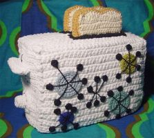 Crochet Toaster Cover by meekssandygirl