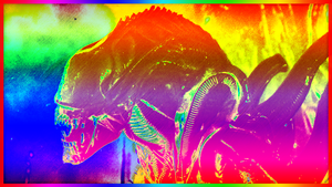 Psychedelic Xenomorph by DrStuff