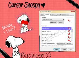 Cursor Snoopy by aLiiCee002