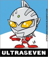 Ultraseven sticker by PacoAfroMonkey