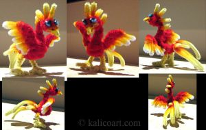 Small Phoenix -- Pipe Cleaners by kalicothekat