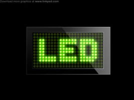 LED screen template PSD file by mizie2009