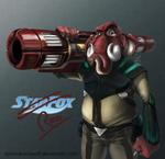 Red: Starfox Request by SpiraxDracowolf