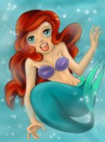 Ariel the little Mermaid by RiaStarchild