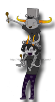 Tavros and Gamzee: Attack by Fortheheckofit1