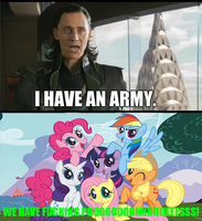 Loki vs. Ponies: WE HAVE FUCKING PONIES! by StoneHot316