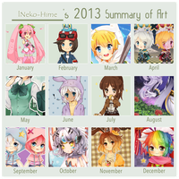 .2013 Art Summary. by lNeko-Hime