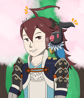 Subaki And Chatot by Lordy-Oh