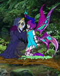 Crow and Butterfly by KnightmareFantom
