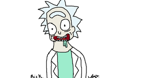 Rick from Rick and Morty by ThedragonsoftheCAT