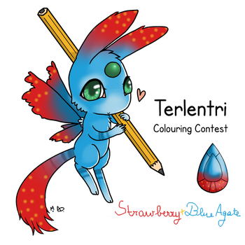 Terlentri Coloring Contest- Strawberry+Blue Agate by YERDUA