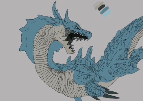 Lagiacrius from Monster Hunter WIP by MasterPred