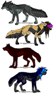Scene dog adoptables 8 by DrappingMalice