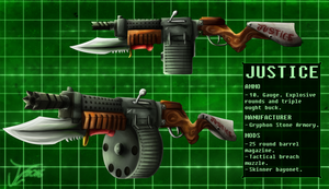 Commission. Andreas' Weaponry (JUSTICE) by jamescorck