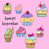 Kawaii Kupcakes by Red--Roses