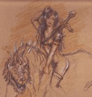 Two beasts sketch by SoraCeres