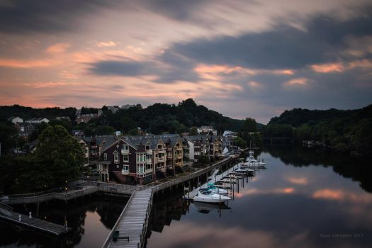 Occoquan From Above by ryangallagherart