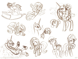 Random Pony Sketches 3 by KP-ShadowSquirrel