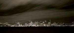 San Francisco Skyline Large Format by Flyboy627