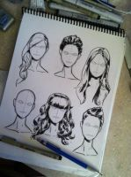 just working on inks and various hair styles by jediboy