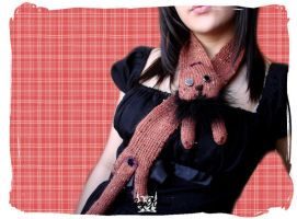 Ginger Kitty Scarf by Cateaclysmic