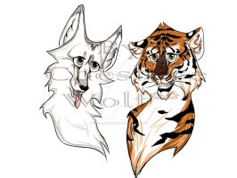 Tiger and Wolf by CheshireWolf98