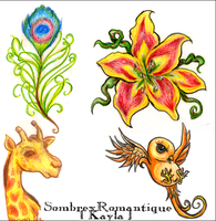 Tattoo Designs by SombrexRomantique