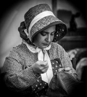 Seamstress BW by mattboggs