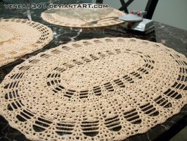 Crochet - Lacy Oval Placemats by venea1391
