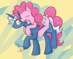 MLP: SIM Pinkie Pie and Pokey Pierce by BlacksWhites