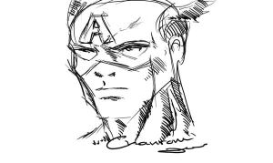 Captain America Sketch by DonChan