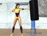 Lara practices boxing 2 by DoppieCroft