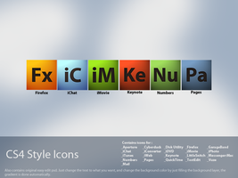 Mac dock icons : CS4 style by rvzine