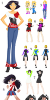 Outfit Collection 1 by Cat-Of-Energy
