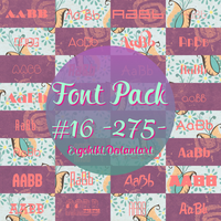 FONT PACK #16 by ergohiki